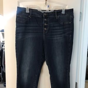 Mauries high rise skinny jean plus size 20W